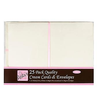 Anita's A5 Cards & Envelopes Cream (25pk) (ANT 1514021)