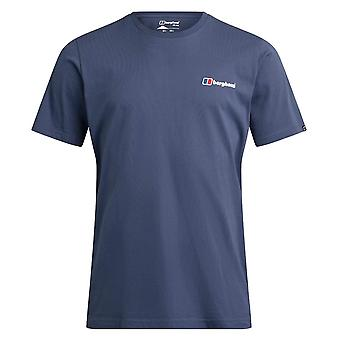 Berghaus Big Corporate Logo Mens Short Sleeve Outdoor T-Shirt Tee Blue