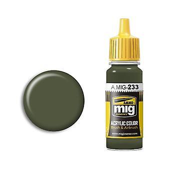 Ammo by Mig Acrylic Paint - A.MIG-0233 RLM 71 Dunkelgrun (17ml)
