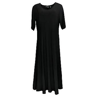 Attitudes by Renee Petite Dress Solid Maxi Dress Black A375422