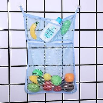 Baby Toy Storage Mesh Bag With Suction Cups - Bathtub Doll Organizer For Bathroom