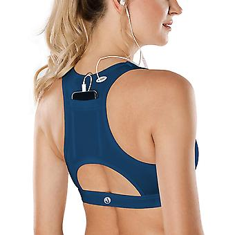 SHAPERX Sports Bras, Womens Sport Bra Padded Racerback Medium Support Pocket ...