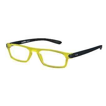قراءة نظارات للجنسين ثنائي الأصفر / أسود قوة +3.00 (le-0182F)