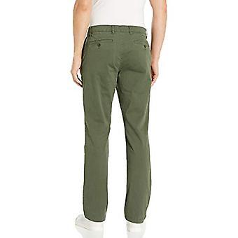 Merkki - Goodthreads Men's Straight-Fit Pesty Comfort Stretch Chino Pant, Olive, 38W x 30L