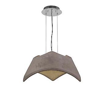 Ceiling Pendant 3 Light E27, Cement Effect, Polished Chrome
