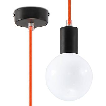 1 Light Ceiling Pendant Orange, E27