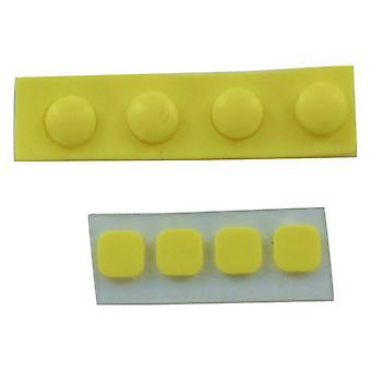 Stopy i zestaw osłon na śruby do nowych 3ds xl konsoli nintendo gumowy silikon z wymianą kleju - żółty | zedlabz