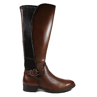 Caprice 25509 Conhaque Leather Womens Long Leg Boots