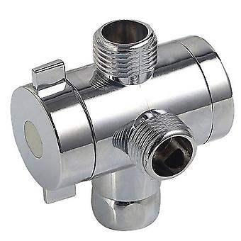 "G1/2"" Shower Diverter Tap With 3-way M/f Adapter"