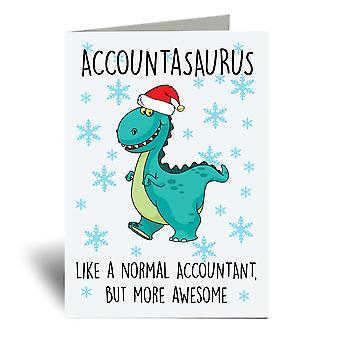 כרטיס ברכה לחשבונאות A6 לחג המולד