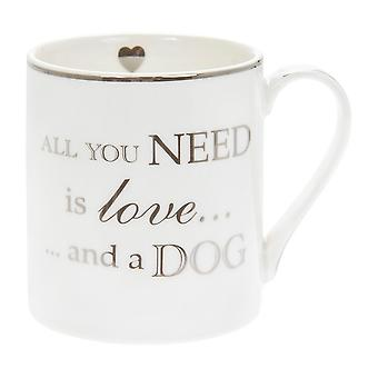 All You Need Is Love And A Dog Fine China Mug - Boxed Gift