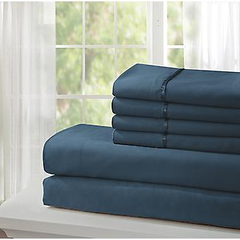 Spura Home Indian Polyester Soft Platinum Collection Bed Sheet Set Queen Size