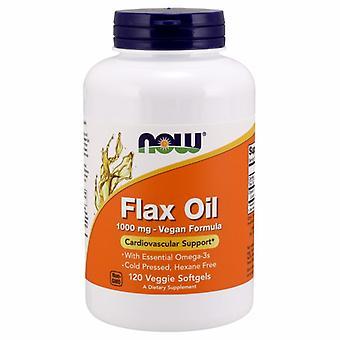 Now Foods Flax Oil, 1000 mg, 120 Veg Softgels