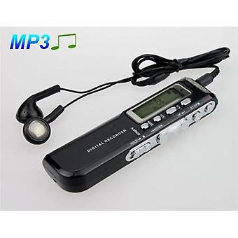 1.3\ Led Mini Digital Voice Recorder With Mp3 Player Black And Sliver 8gb