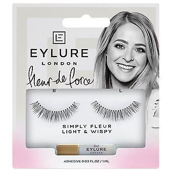 Eylure X Fleur de Force Strip Lashes - Simply Fleur - Light and Wispy with Glue