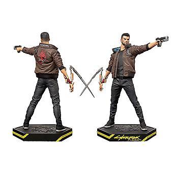 Cyberpunk 2077: Mannelijke V figuur zwart/bruin, gedrukt, 100% plastic, in cadeauverpakking.