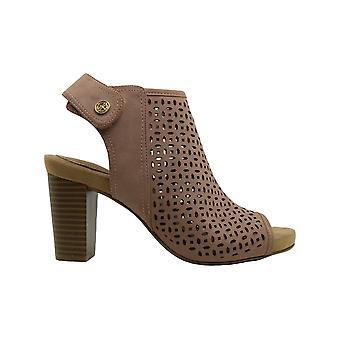 Giani Bernini Womens Giani Bernini Josieyy Leather Peep Toe Casual Ankle Stra...