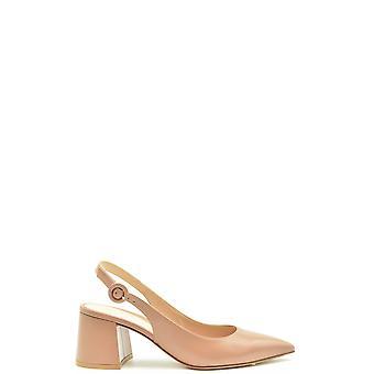 Gianvito Rossi Ezbc443014 Women's Beige Leather Sandals