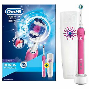 Oral-B Pro 2 2500 3D White Electric Rechargeable Brosse à dents Rose