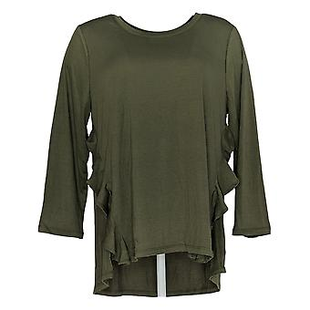 DG2 by Diane Gilman Women's Top Iolive Green Tunic Polyester 731-929