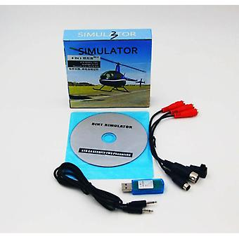8in1 Usb Flight Simulator og kabel