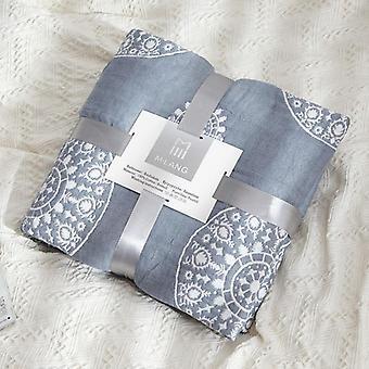 Cotton Quatro camadas Toalha Cobertor Condicionador de Ar Condicionador