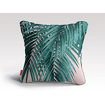 Palm leaves blush vibes cushion/pillow