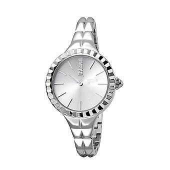 Just Cavalli JC1L002M0015 Roestvrij stalen horloge met zilveren wijzerplaat