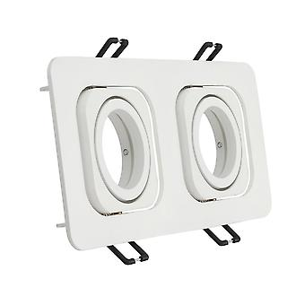 Aluminium Ceiling Light Mounting Frame, Brushed Square