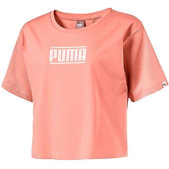 Puma Kids Style Tee Girls Junior Rajattu Top T-paita Persikka 594963 31 RW84
