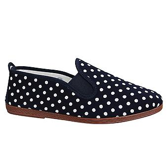Estilo hilo dental Gallur Unisex Alpadrille Slip On Plimsolls Shoes 5556 Navy