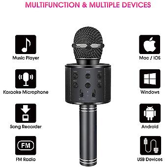 Wireless-karaoke Microphone Bluetooth Handheld, Portable-speaker Home