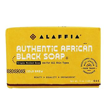 Alaffia Authentic African Black Bar Soap Triple Milled Cold Brew