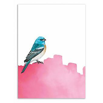 Art-Poster - Bird pink - Seven trees