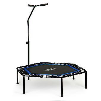 Fitness trampoline - Jumping Fitness - 122x122x28 cm - zwart/blauw