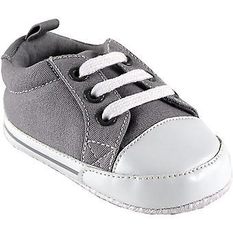 Luvable Friends Basic Canvas Sneaker (Infant), Black, 12-18 Months M US Infant