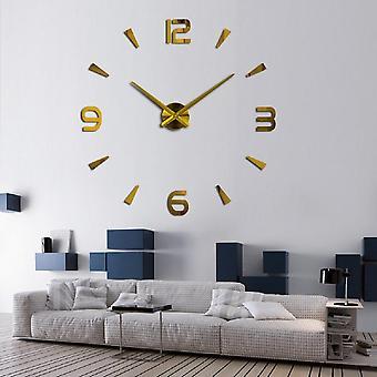 3d Silent Oversize Digital Clock Diy Large Wall Modern Design For Living Room