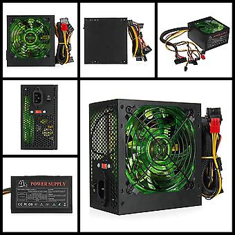 500w Pc Power Supply, 120mm Led Fan 24 Pin Pci Sata Atx 12v ,110220v