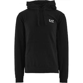 Sweat à capuche logo noir EA7