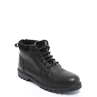 Pegasus Mens Leather Boots Lace Up Sherpa Lined Wide Fit