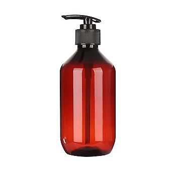 Brown Plastic Transparent Soap Dispenser Foam Pump Bottle Bathroom Shampooing maison