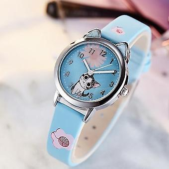 Cute Cat Pattern Kids Watch Quartz Analog Child For Student Clock