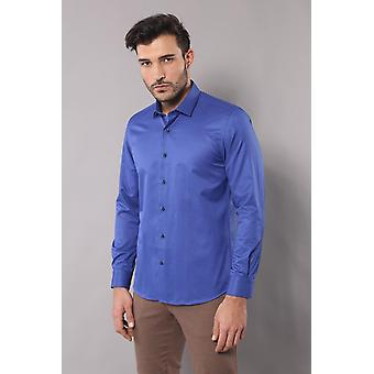 Blaue S-Punkt gemustert Shirt