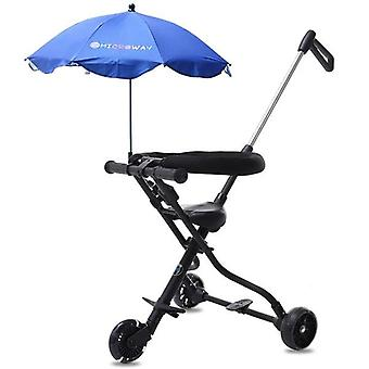 Infant Shining Baby Ride On Bike Ultra-lightweight Folding Stroller