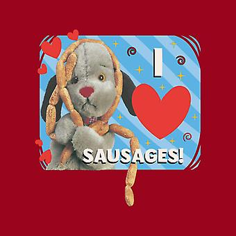 Sooty Sweep I Love Sausages Men's Camiseta