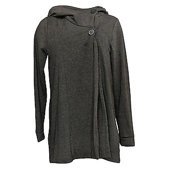 Soft & Cozy Women's Hoodie With Front Button Gray 663216