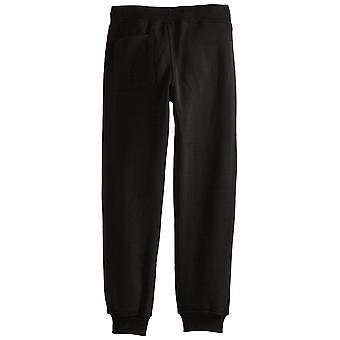 Southpole Boys' Big Active Basic Jogger Fleece Pants, Black, Medium / 10-12