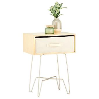 mDesign Moderne Boerderij Home Decor Eindtafel met stoffen lade