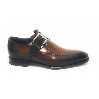 Harris Men's Shoes With Two-Tone Vegas Leather Buckle Gold/ Velvet Blue U17ha107