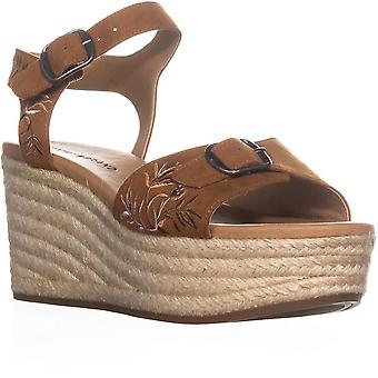 Lucky Brand Womens Naveah2 Fabric Open Toe Casual Platform Sandals